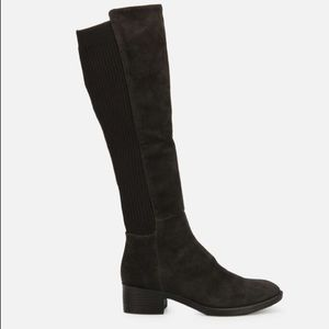 KENNETH COLE Levon Suede and Knit Riding Boots